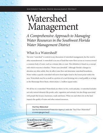 Watershed Management - Southwest Florida Water Management ...