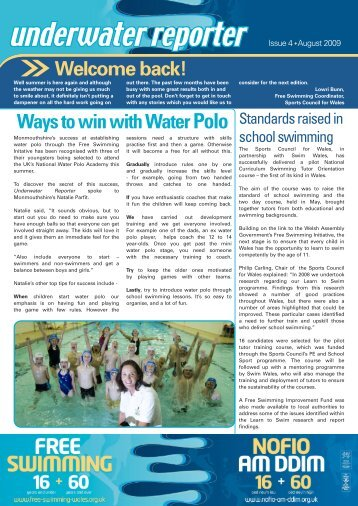 underwater reporter