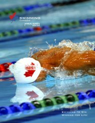 Download the 2005-06 Annual Report - Swimming Canada