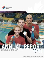 Download the 2010-11 Annual Report - Swimming Canada