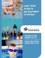 Long Term Athlete Development Strategy (LTAD) - Swimming Canada