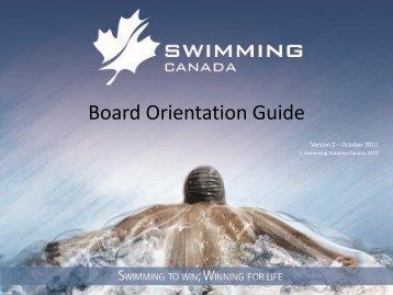 Board Orientation Guide - Swimming Canada