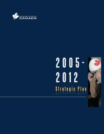 Download 2005-2012 Strategic Plan (PDF) - Swimming Canada