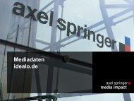 Mediadaten idealo.de - Axel Springer MediaPilot