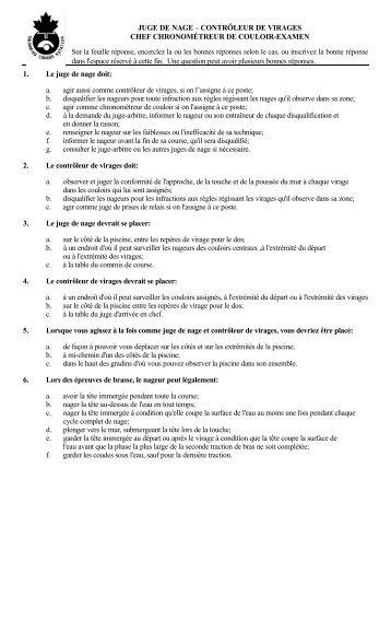 JUGE DE NAGE – CONTRÔLEUR DE VIRAGES CHEF ...