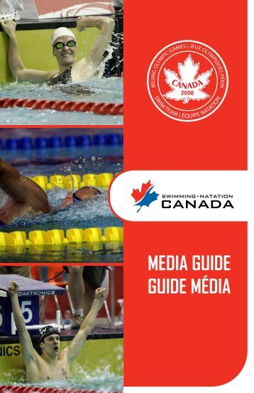 MEDIA GUIDE GUIDE MÉDIA - Swimming Canada