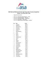 ASA National Masters & Senior Age Group Inter ... - Swimming.Org