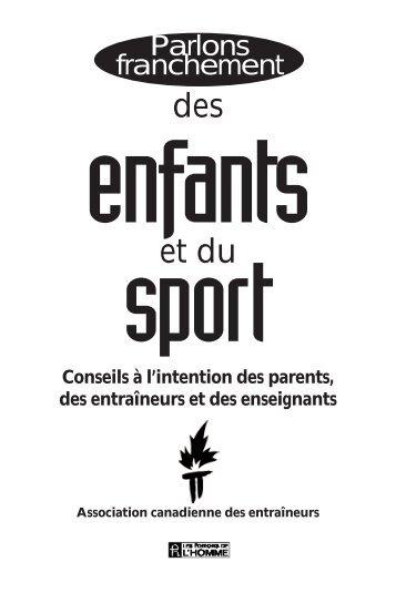 Parlons franchement des enfants et du sport - Swimming Canada
