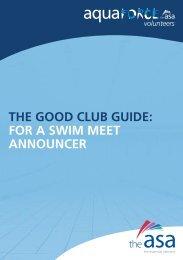 the good club guide: for a swim meet announcer - Swim Wales