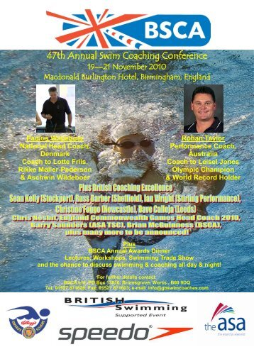 Conference Booking Form - Swimming.org
