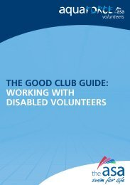 the good club guide: working with disabled volunteers - Swim Wales