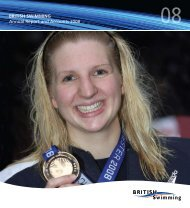 british swimming Annual Report and Accounts 2008 - Swimming.Org