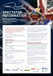 SPECTATOR INFORMATION - Potters Bar Swimming Club