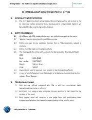 Diving Rules – SA National Aquatic Championships 2013 Every ...