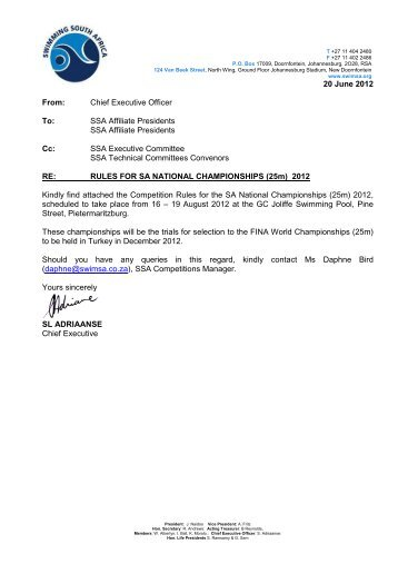 Sa Short Course Information-Rules-Program-QT - Swimming South ...