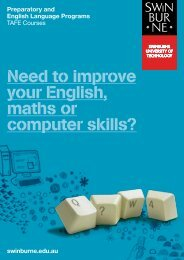 Preparatory and English Language Programs - Swinburne ...