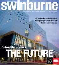 Download the complete March 2011 issue in PDF - Swinburne ...