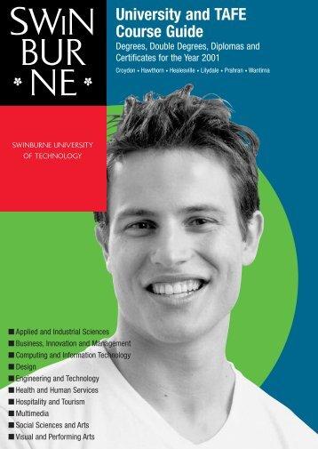 2001 Swinburne Undergraduate and TAFE Course Guide