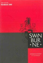 2000 Swinburne Higher Education Handbook