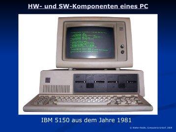 HW- und SW-Komponenten eines PC - Computeria Urdorf