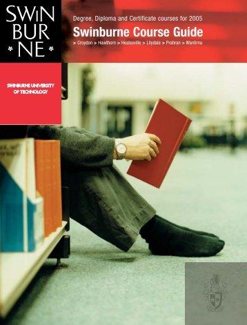 2005 Swinburne Undergraduate and TAFE Course Guide
