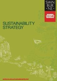 sustainability strategy - Swinburne University of Technology
