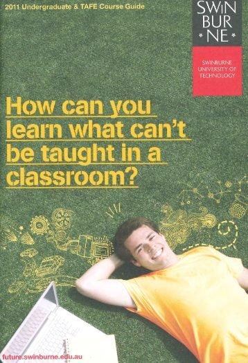 2011 Swinburne Undergraduate and TAFE Course Guide