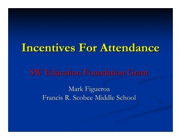 Incentives For Attendance