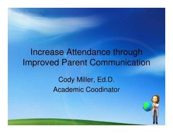 Increase Attendance through Improved Parent Communication