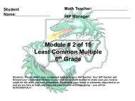 6th Grade MyPyramid Lesson 2