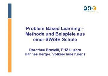 Problem Based Learning – Methode und Beispiele aus einer SWiSE ...
