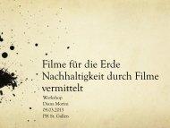 Filme für die Erde Nachhaltigkeit durch Filme vermittelt - SWiSE