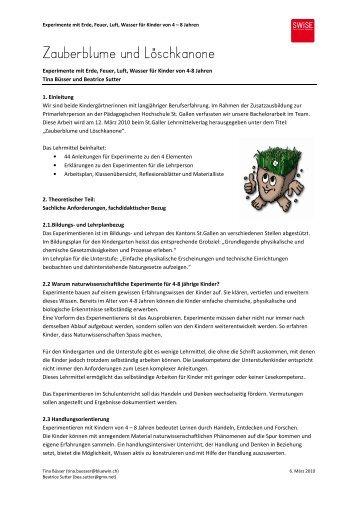 Zauberblume und Löschkanone - SWiSE