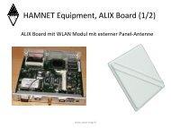 HAMNET Equipment, ALIX Board (1/2) - swiss-artg