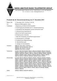 Protokoll der 42. Generalversammlung - swiss-artg