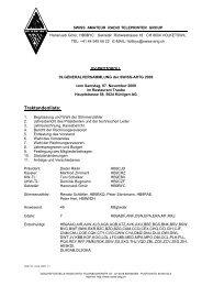 Protokoll der 39. Generalversammlung - swiss-artg