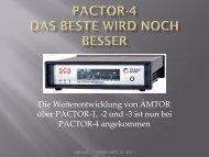 PACTOR-4 Das Beste wird noch besser - swiss-artg