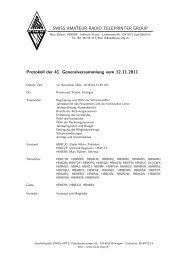 Protokoll der 41. Generalversammlung - swiss-artg