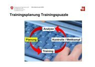 Trainingsplanung Trainingspuzzle - Swiss Athletics