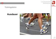 Ausdauer - Swiss Athletics