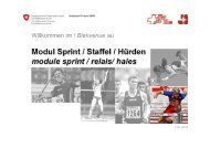C101 Kursbeginn Sprint Hrden Staffel_df - Swiss Athletics