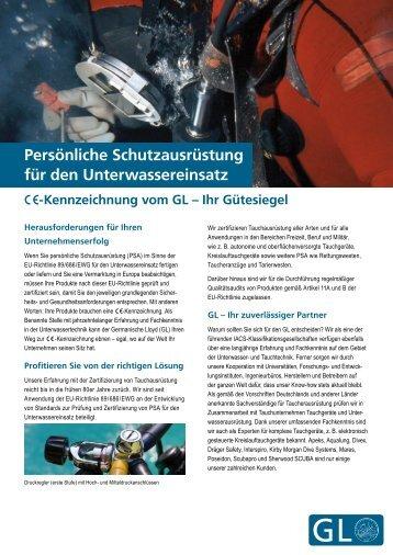 Persönliche Schutzausrüstung für den ... - GL Source