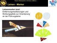 Leinen-Markierungen - bei Swiss-Cave-Diving