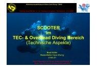 Präsentation Buochs TD SCOOTER im TEC - bei Swiss-Cave-Diving