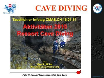 cave diving - CMAS.CH