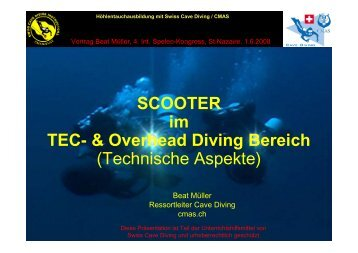 (MIT Scooter)? - bei Swiss-Cave-Diving