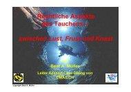 Rechtliche Aspekte des Tauchens - bei Swiss-Cave-Diving