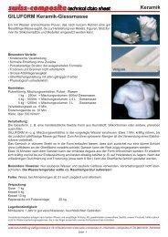 Keramische Formenmassen - Suter Swiss-Composite Group