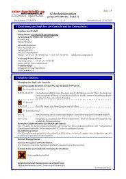 Sicherheitsdatenblatt - Suter Swiss-Composite Group
