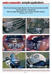 Bilder, was unsere Kunden bauen. - Suter Swiss-Composite Group